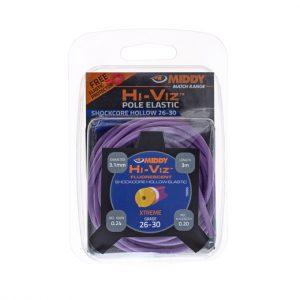 Middy hi-viz hollow elastiek paars 26-30 3,1