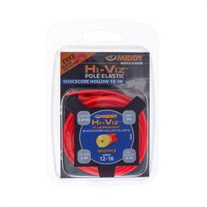 Middy hi-viz hollow elastiek rood 12-16 2.0